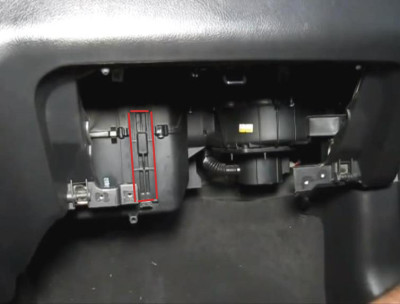 Заглушка камеры фильтра