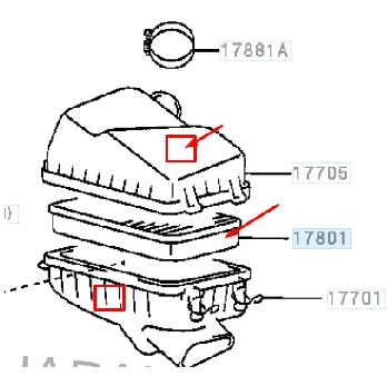 рис. 1 Замена воздушного фильтра Тойота Авенсис