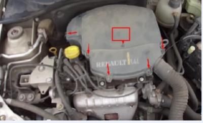renault symbol 2004 замена воздушного фильтра двигателя